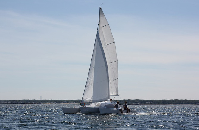 TYJ sailing off the Maine Coast